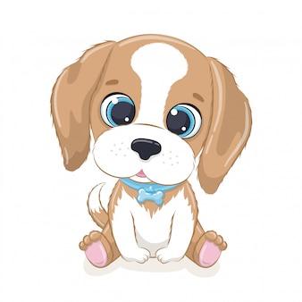 Милый ребенок собака.