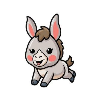 Милый ребенок осел мультфильм прыжки