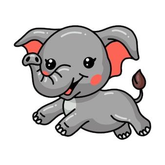 Милый слоненок мультфильм прыжки
