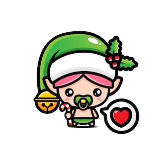 Cute baby elves christmas
