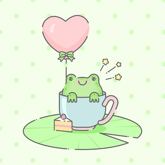 Милый ребенок лягушка иллюстрация