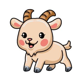 귀여운 아기 염소 만화 포즈