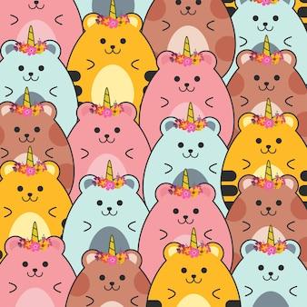 Cute baby hamster pattern