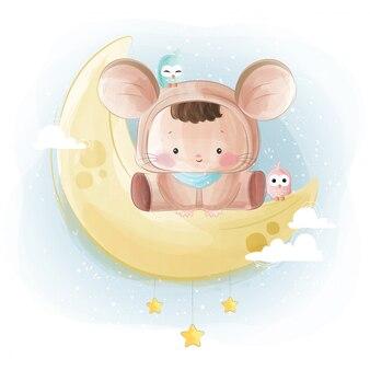 マウスコスチュームのかわいい赤ちゃん