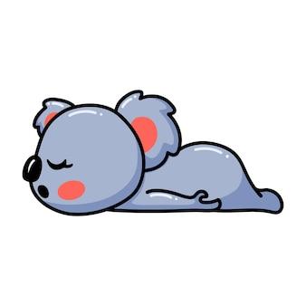 眠っているかわいい赤ちゃんコアラ漫画
