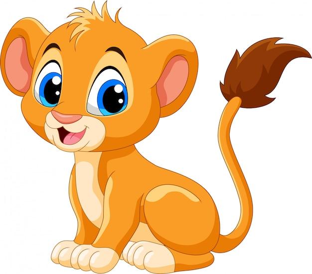 Милый ребенок лев мультфильм