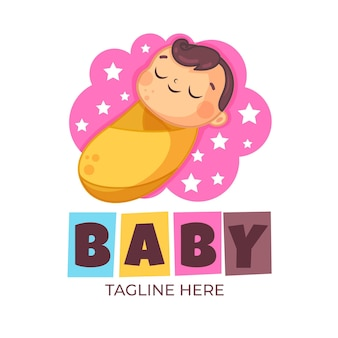かわいい赤ちゃんのロゴのテンプレート