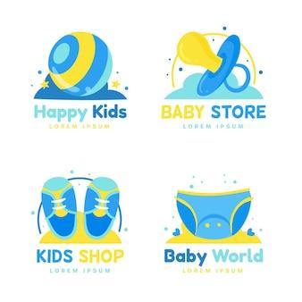Коллекция милых детских логотипов