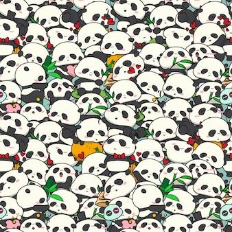Cute baby panda pattern.