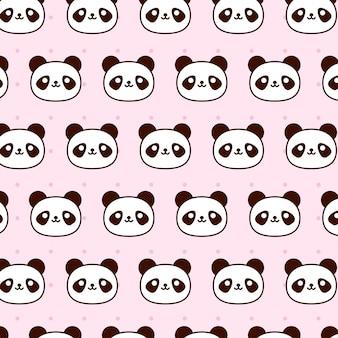 Cute baby panda pattern