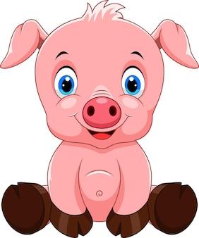Милый ребенок свинья мультфильм