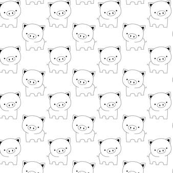 Cute  baby pig pattern