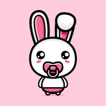 귀여운 아기 토끼 캐릭터 디자인