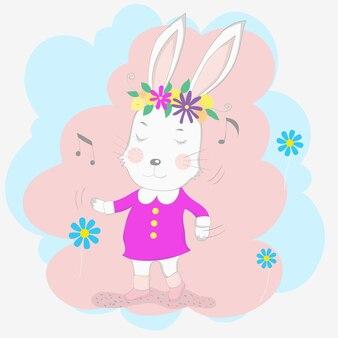 The cute baby rabbit