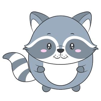 かわいい赤ちゃんアライグマの描画