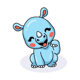 かわいい赤ちゃんサイの漫画のポーズ