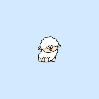 Cute baby sheep cartoon icon