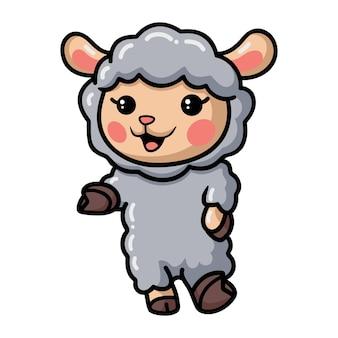 귀여운 아기 양 만화 제시