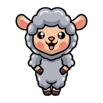 귀여운 아기 양 만화 서