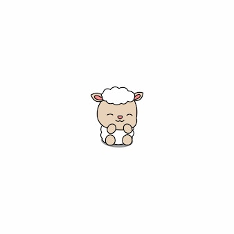 Cute baby sheep cartoon