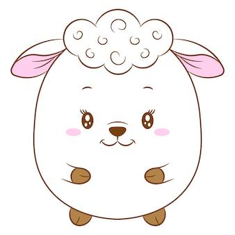 かわいい赤ちゃん羊の描画