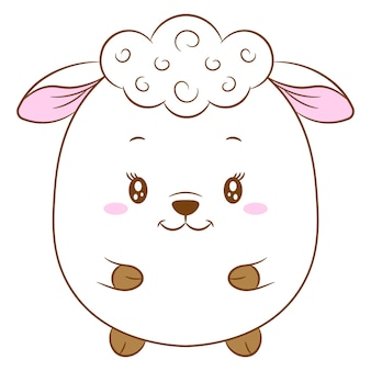 Милый ребенок овец рисунок