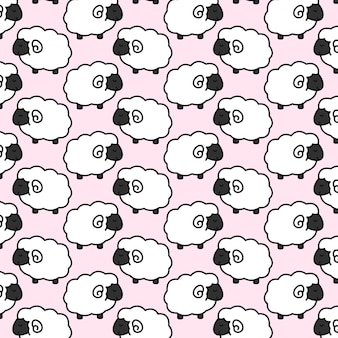 Cute baby sheep pattern