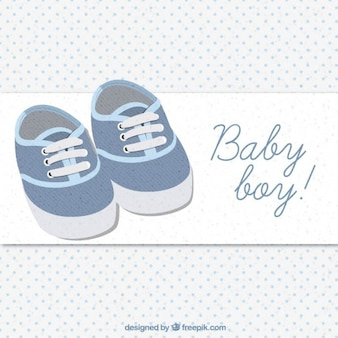Cute baby shoes card