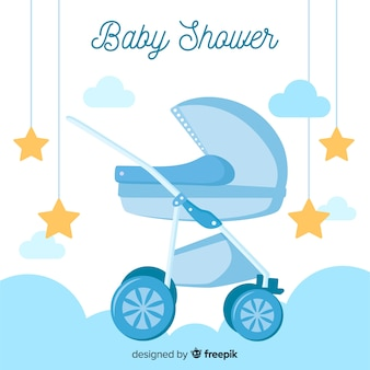Cute baby shower background