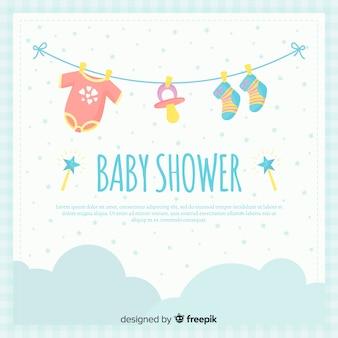 귀여운 베이비 샤워 배경