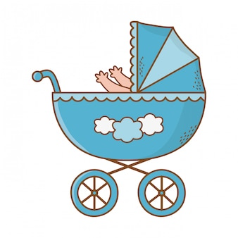 Cute baby shower cartoon