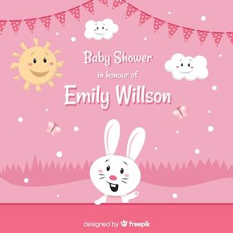 Cute baby shower design
