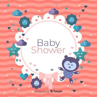 귀여운 베이비 샤워 템플릿