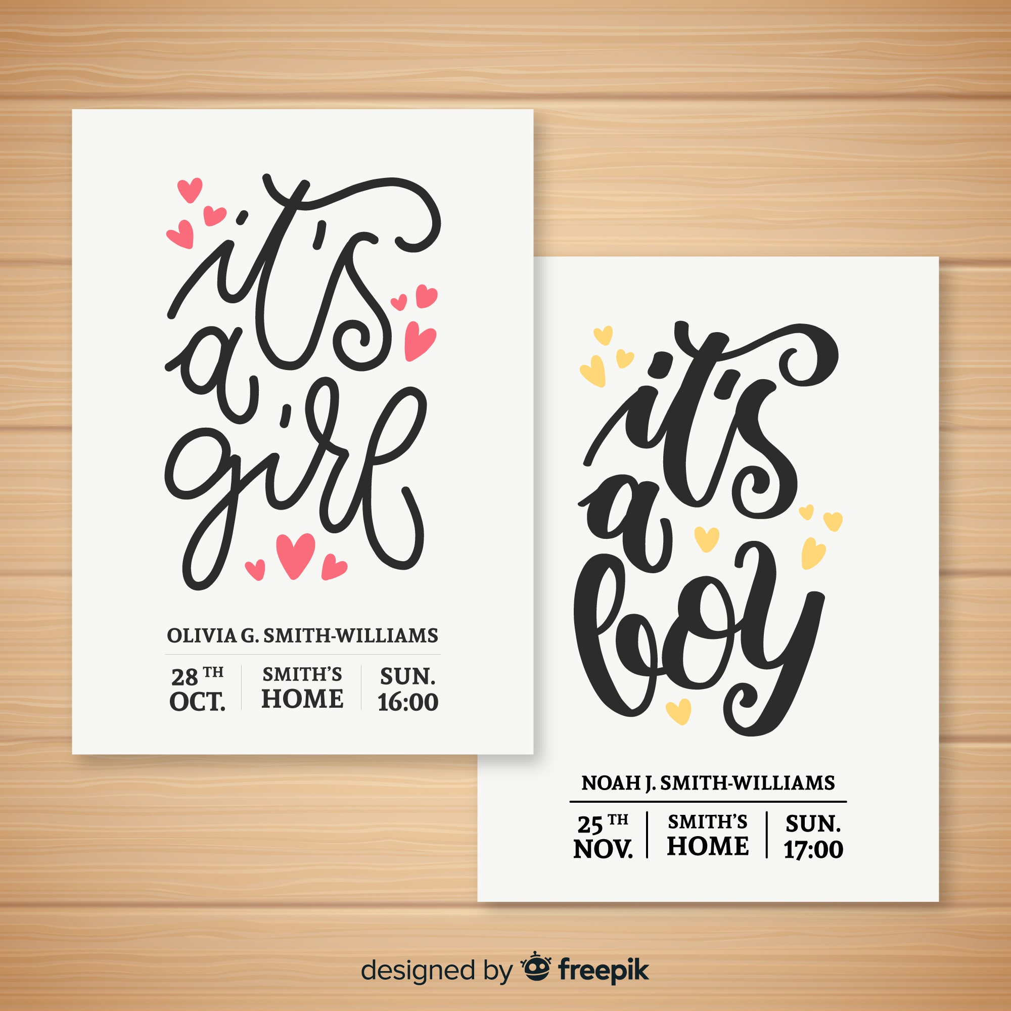 Cute baby shower template