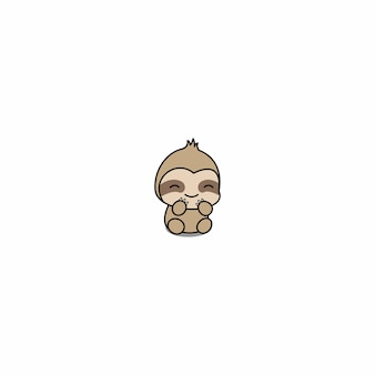 Cute baby sloth cartoon icon