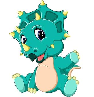 かわいい赤ちゃんトリケラトプスの漫画