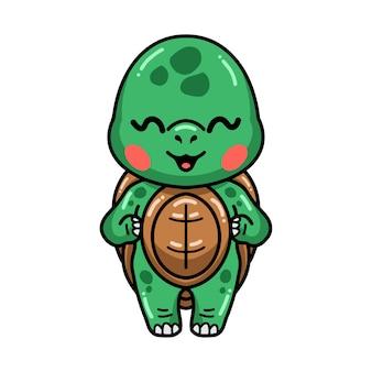 Cute baby turtle cartoon standing