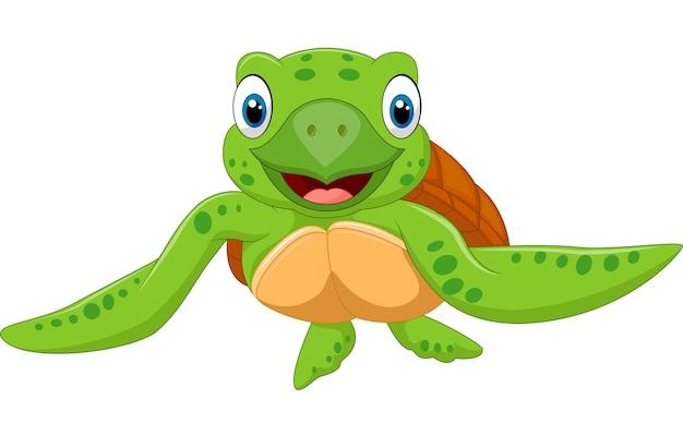 Cute baby turtle vector illustration
