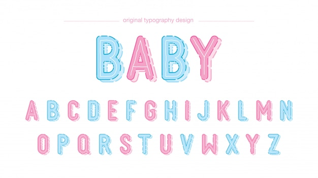 Cute baby typography design