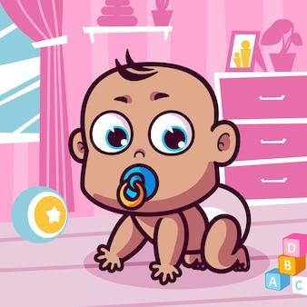 おしゃぶり漫画とかわいい赤ちゃん