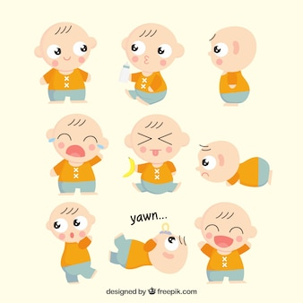 Милый ребенок с несколькими выражениями