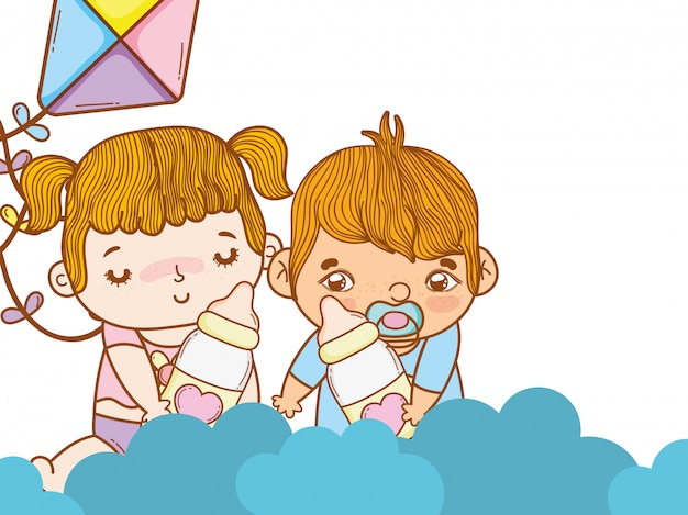 Cute babys cartoon