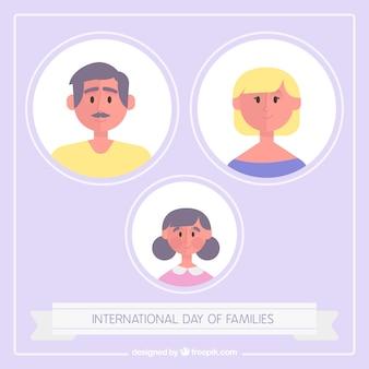 Милый фон международный день семей