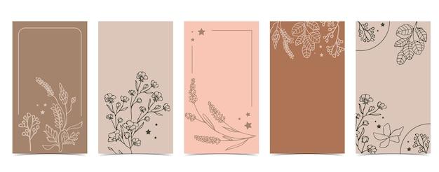 Симпатичный фон для социальных сетей с жасмином, лавандой, цветком