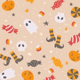 Cute background of halloween