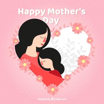 귀여운 배경 해피 어머니의 날