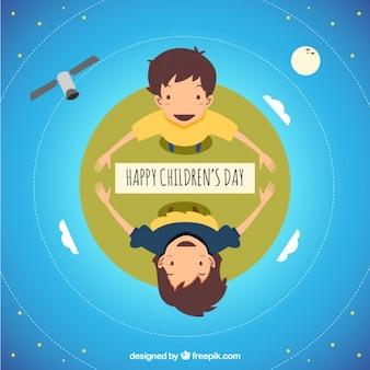 Cute background of children worldwide