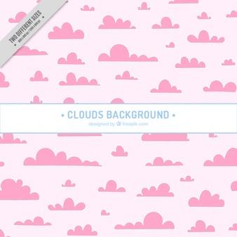 Симпатичный фон из розовых облаков