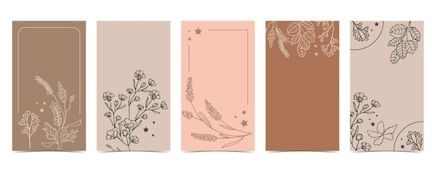 Cute background for social media with jasmine,lavender,flower