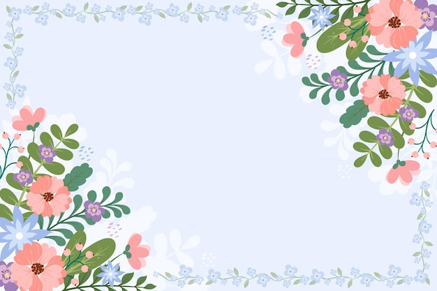 Cute background with floral details